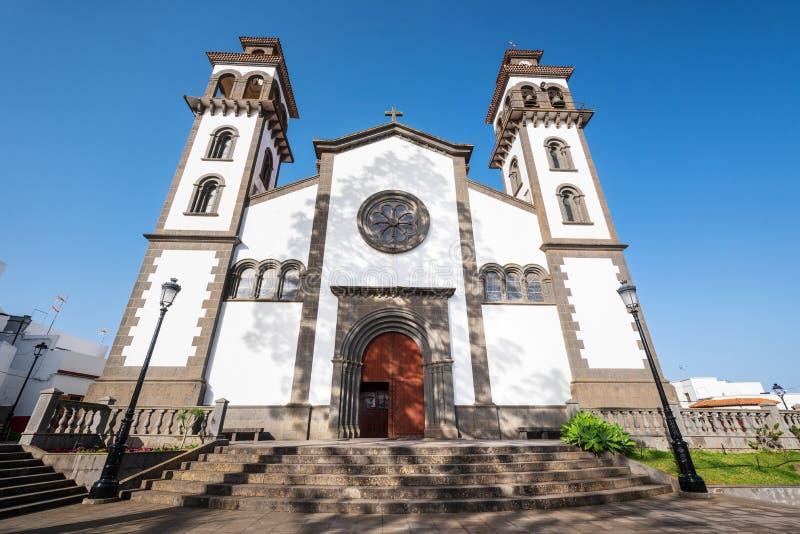 Kerk van onze dame van Candelaria in Moya, Grote Kanarie, Spanje stock afbeeldingen