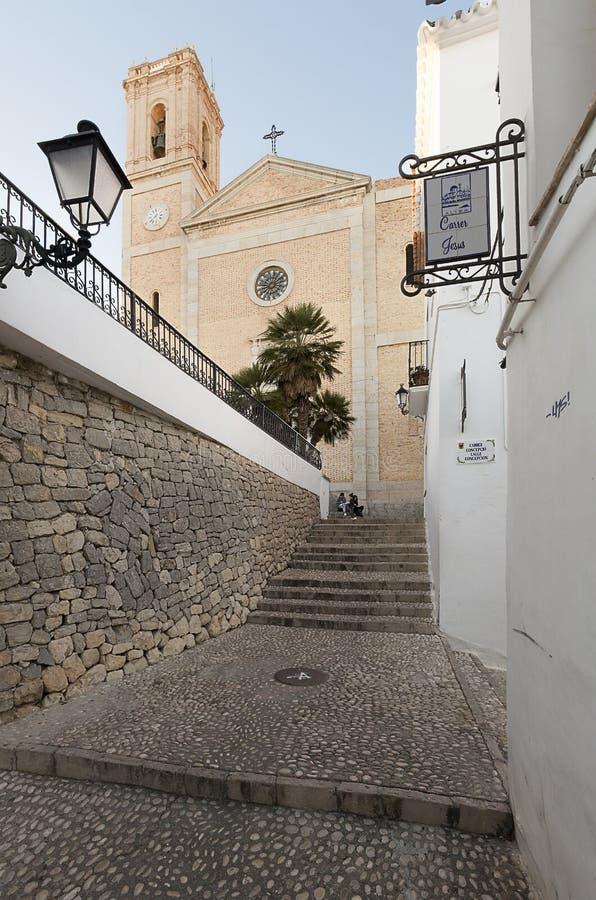 Kerk van Onze Dame van Consuelo in Altea stock foto's
