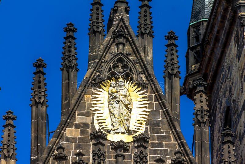 Kerk van onze dame vóór tyn in Praag royalty-vrije stock foto's