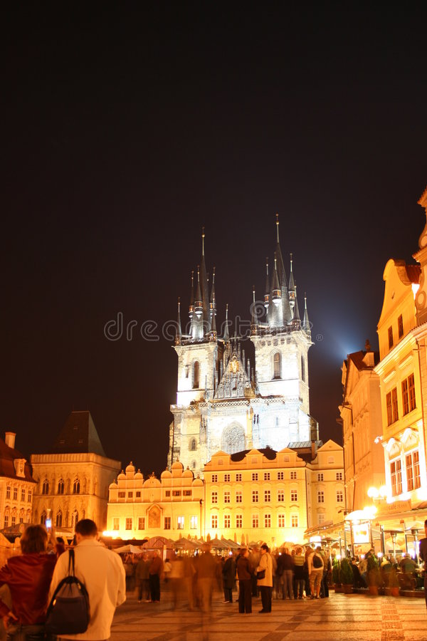 Kerk van onze dame vóór Tyn, Praag, Tsjechische Republiek stock fotografie