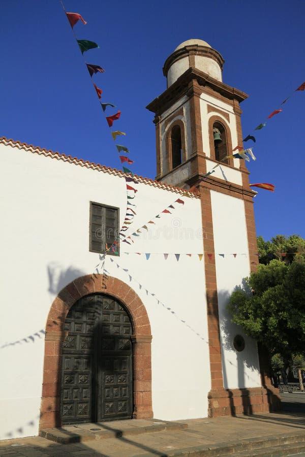 Kerk van Onze Dame van Antigua in Fuerteventura royalty-vrije stock afbeelding