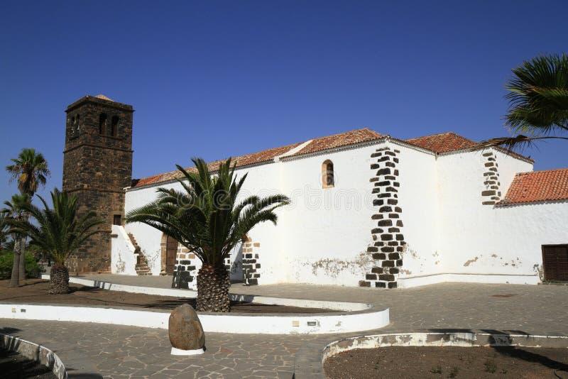 Kerk van Onze Dame van Candelaria in La Oliva, Fuerteventura stock fotografie