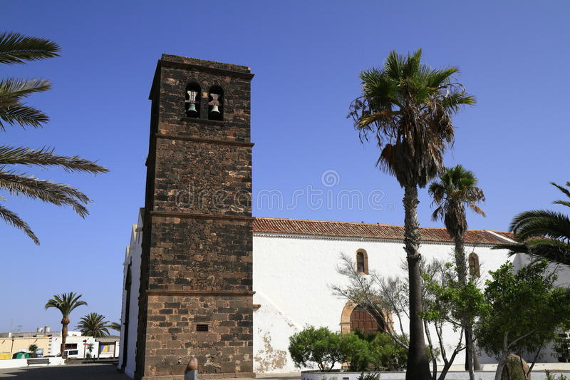 Kerk van Onze Dame van Candelaria in La Oliva, Fuerteventura royalty-vrije stock fotografie