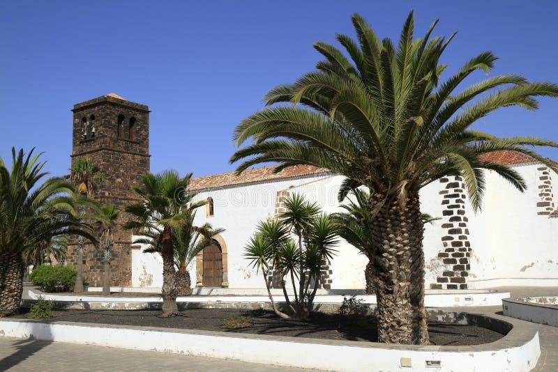 Kerk van Onze Dame van Candelaria in La Oliva, Fuerteventura royalty-vrije stock afbeeldingen