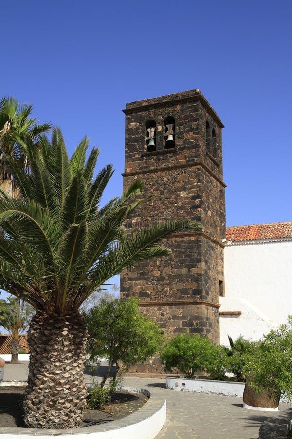 Kerk van Onze Dame van Candelaria in La Oliva, Fuerteventura stock foto