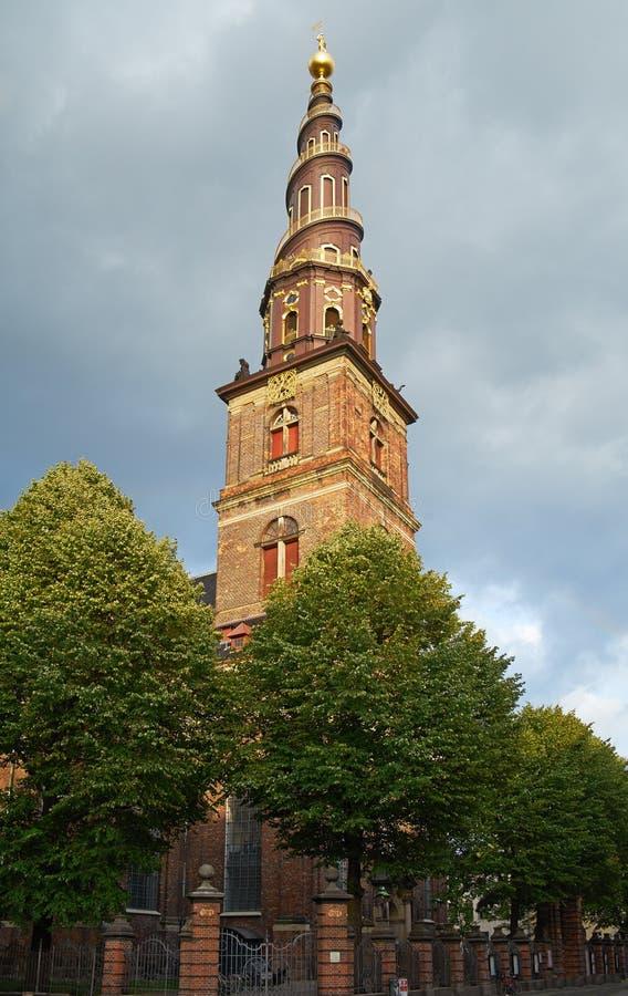 Kerk van Onze Verlosser in Kopenhagen stock foto's