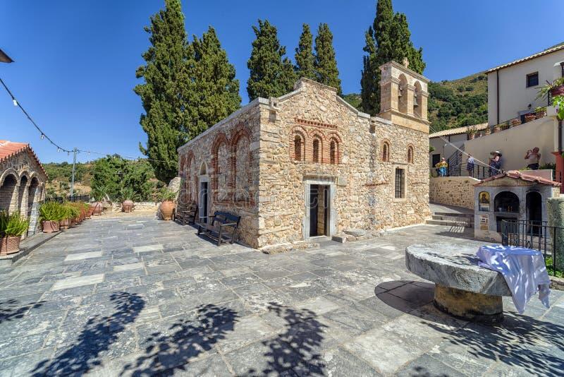 Kerk van Panagia-kera, Kreta - Griekenland stock afbeeldingen
