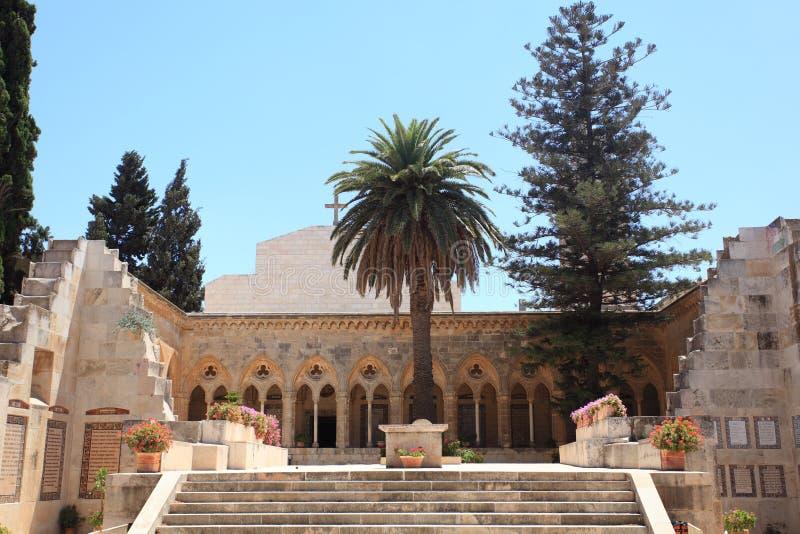 Kerk van Pater Noster, Onderstel van Olijven royalty-vrije stock afbeeldingen