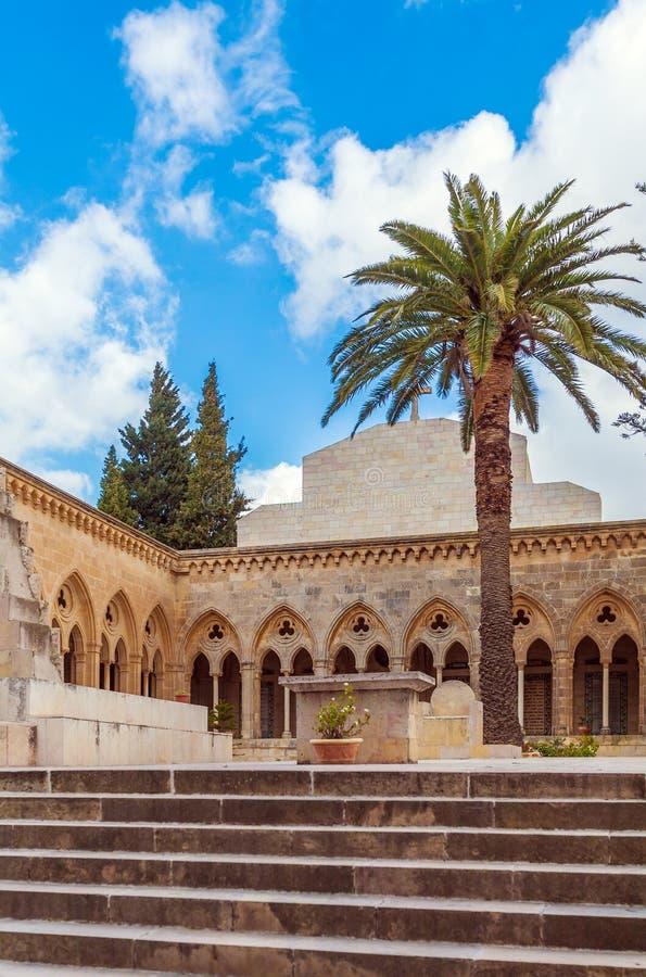 Kerk van Pater Noster, Onderstel van Olijven, Jeruzalem stock foto