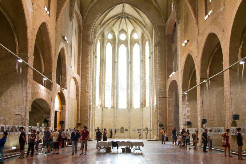 Kerk van Perpignan stock afbeelding