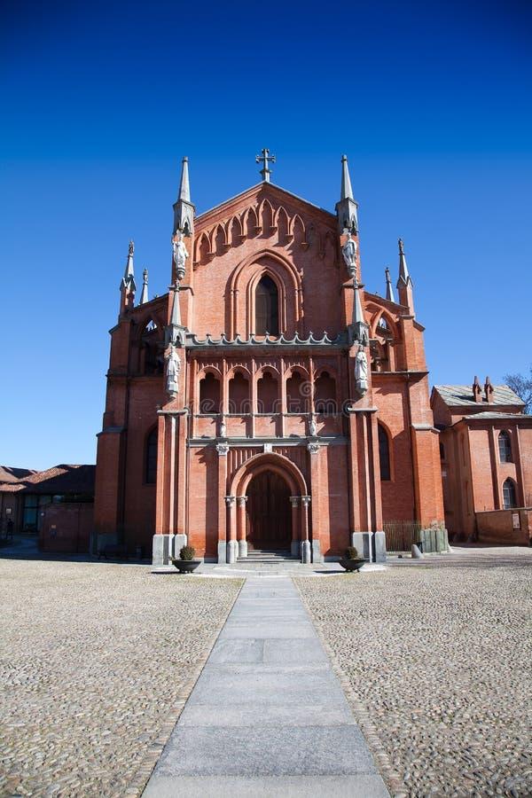 Kerk van Pollenzo, Bustehouder, Cuneo. royalty-vrije stock foto's
