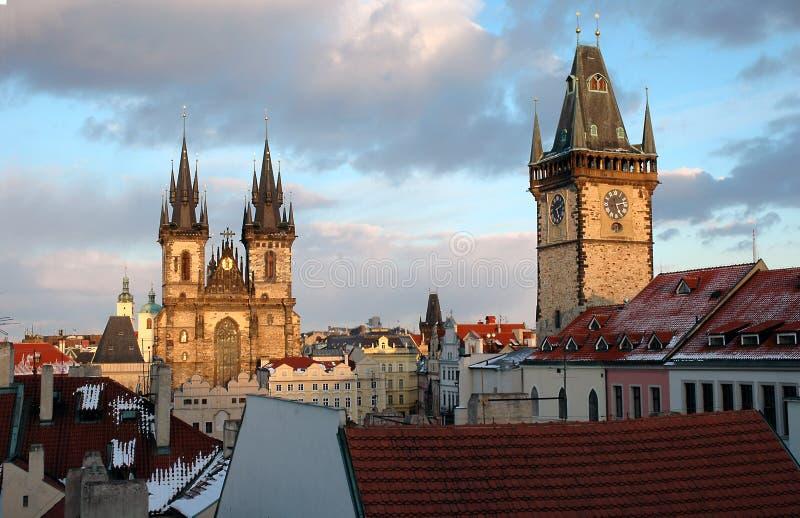 Kerk van Prag stock afbeelding