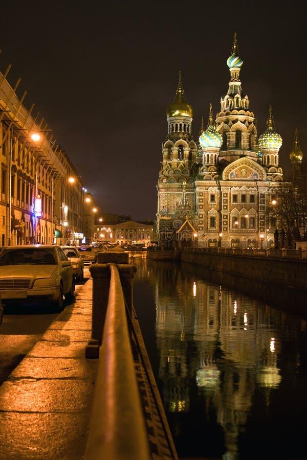 Kerk van redder op gemorst bloedSt. Petersburg royalty-vrije stock afbeeldingen