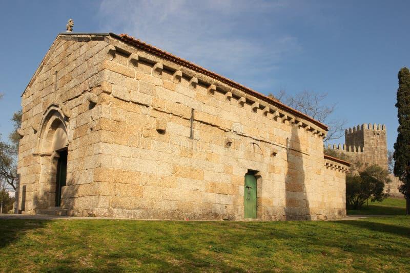 Kerk van São Miguel do Castelo Guimaraes portugal stock fotografie