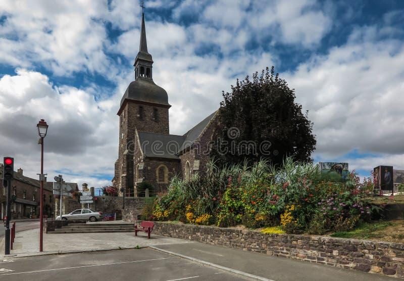 Kerk van Saint Eloi in Iffendic, Frankrijk royalty-vrije stock afbeelding