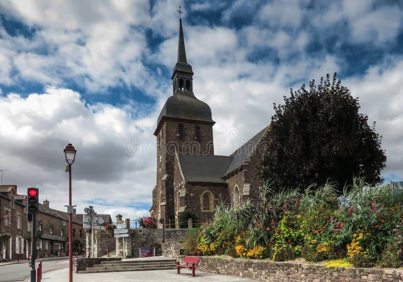 Kerk van Saint Eloi in Iffendic, Frankrijk stock foto
