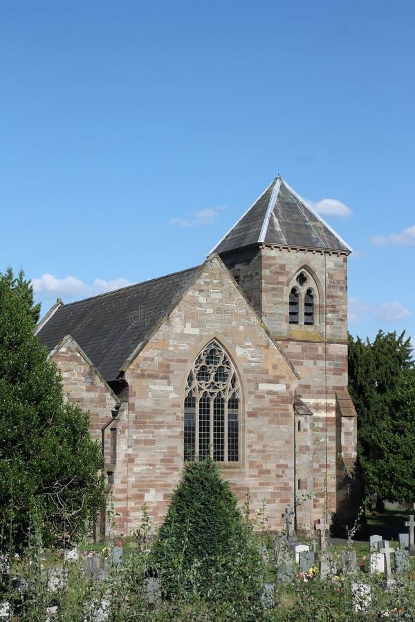 Kerk van Saint Nicolas, Droitwich, Engeland stock afbeelding