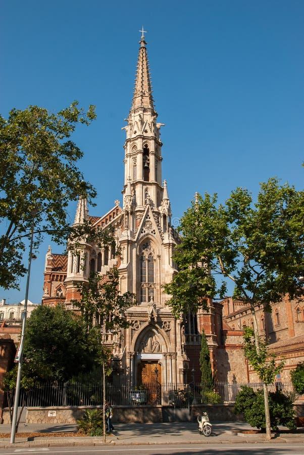 Kerk van Salesians Barcelona spanje royalty-vrije stock afbeeldingen