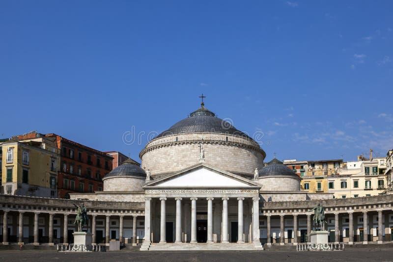 Kerk van San Francesco di Paola in Napels, Italië stock foto's