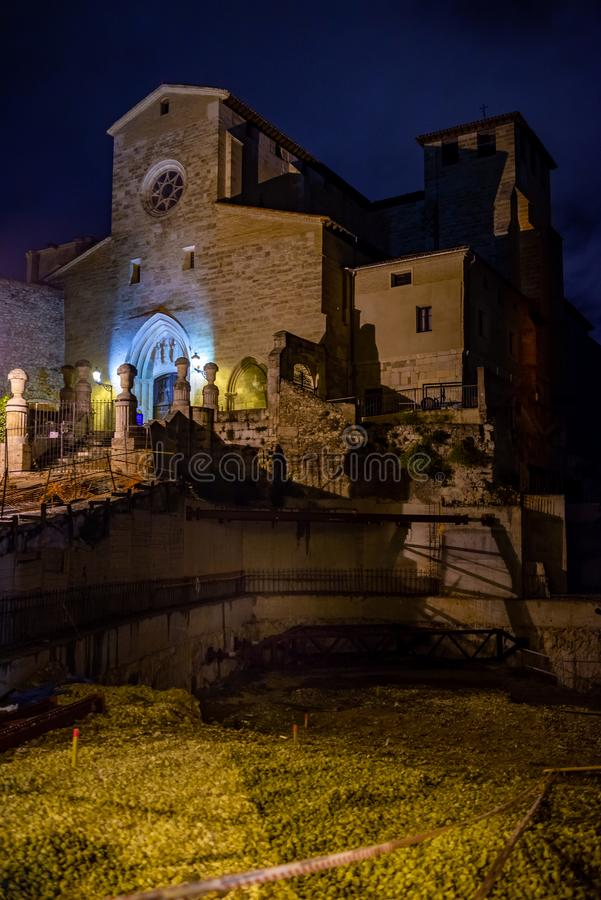 Kerk van San Gil in Burgos, Spanje royalty-vrije stock afbeeldingen