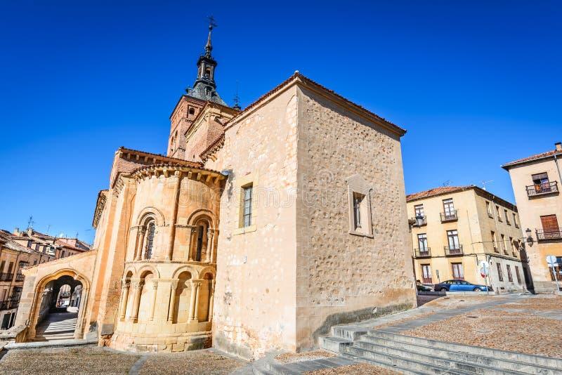 Kerk van San Martin, Segovia, Spanje stock foto