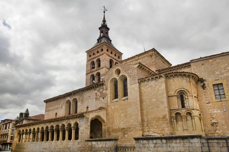Kerk van San Martin, Segovia, Spanje royalty-vrije stock foto's