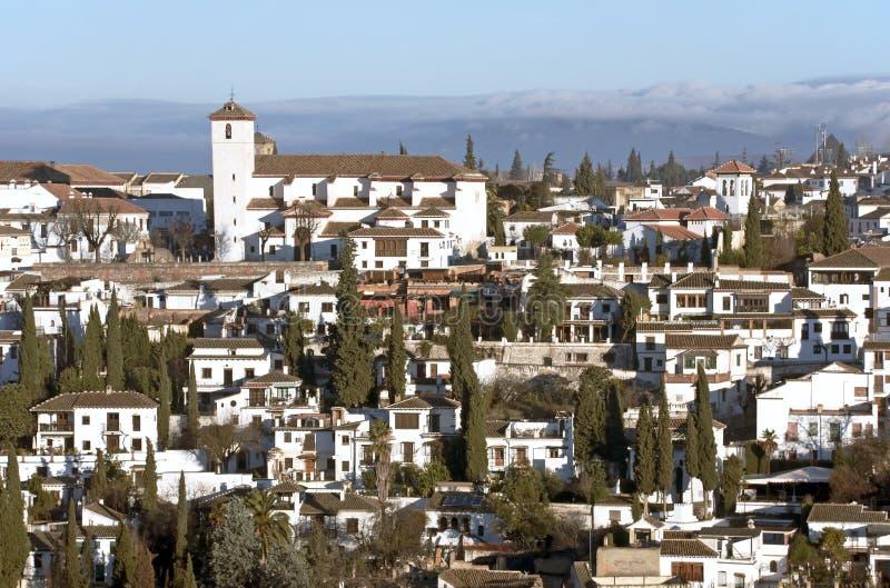 Kerk van San Nicolás, Granada stock fotografie