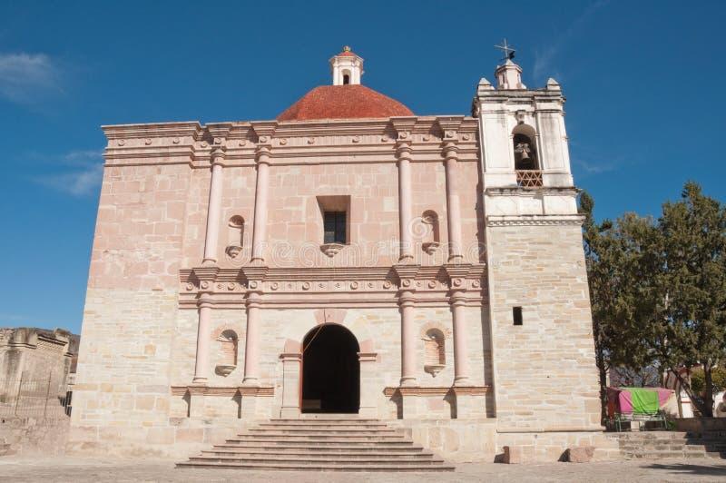 Kerk van San Pablo, Mitla, Oaxaca (Mexico) stock foto