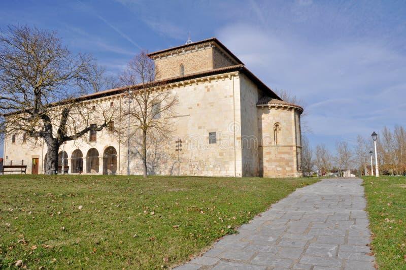 Kerk van San Prudencio van Armentia, Vitoria (Kuuroord stock afbeelding