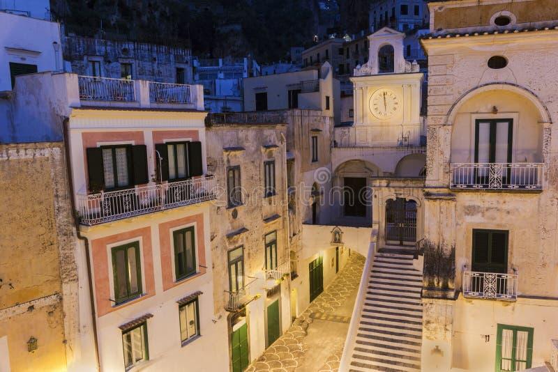 Kerk van San Salvatore de Birecto in Atrani, Italië royalty-vrije stock fotografie