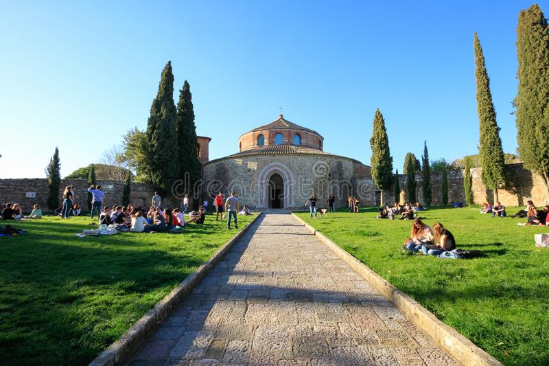 Kerk van Sant 'Angelo in Perugia, Italië royalty-vrije stock fotografie