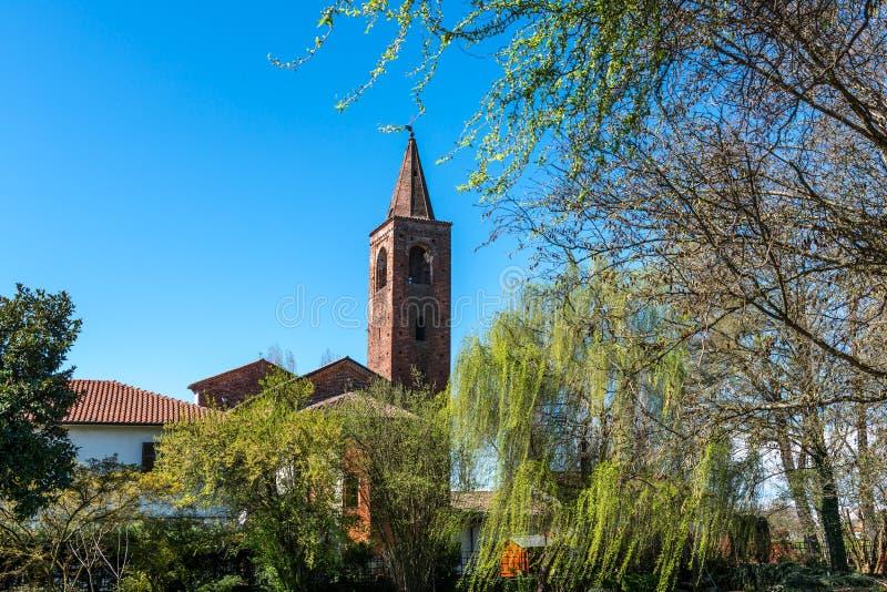 Kerk van Sant-Albino, Mortara (Italië) stock foto