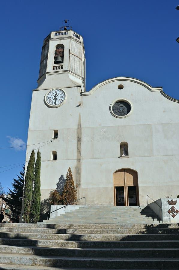 Kerk van Sant Andreu de Vallgorguina-Barcelona stock foto