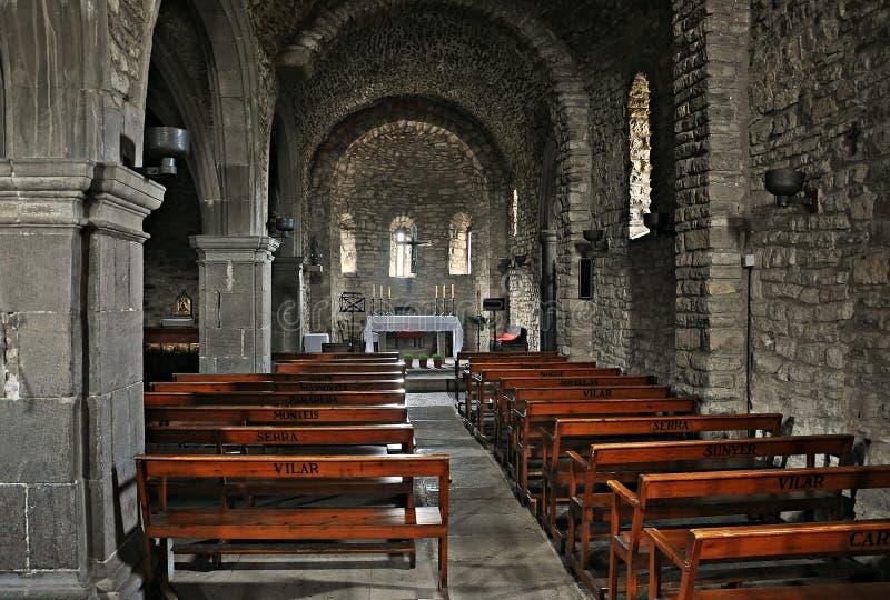 Kerk van Sant Cristà ² fol stock afbeelding