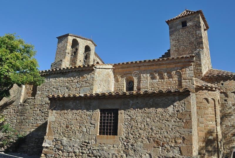 Kerk van Sant Pere de Ullastret stock foto