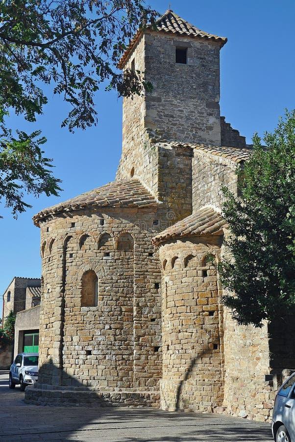 Kerk van Sant Pere de Ullastret royalty-vrije stock fotografie