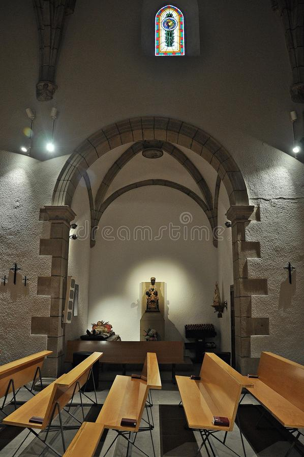 Kerk van Sant Sadurnà royalty-vrije stock afbeelding