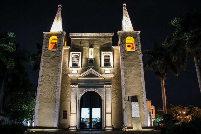 Kerk van Santa Ana, Merida, Yucatan, Mexico royalty-vrije stock foto's