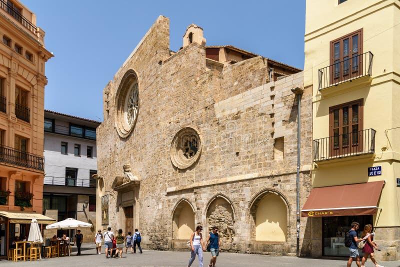 Kerk van Santa Catalina In Valencia royalty-vrije stock fotografie