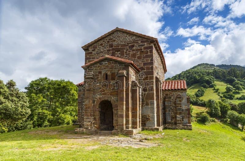 Kerk van Santa Cristina de Lena Oviedo stock afbeeldingen
