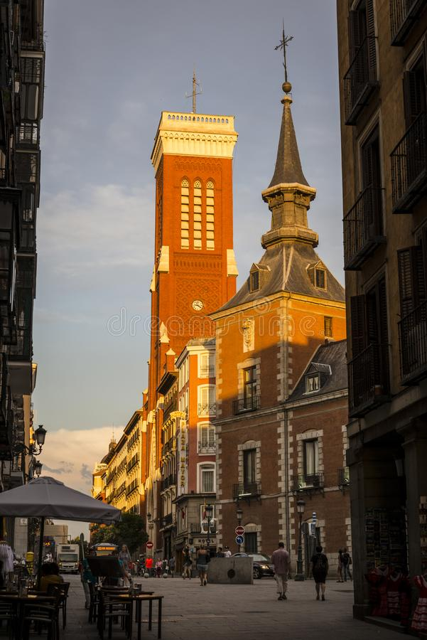 Kerk van Santa Cruz, Madrid, Spanje royalty-vrije stock afbeeldingen