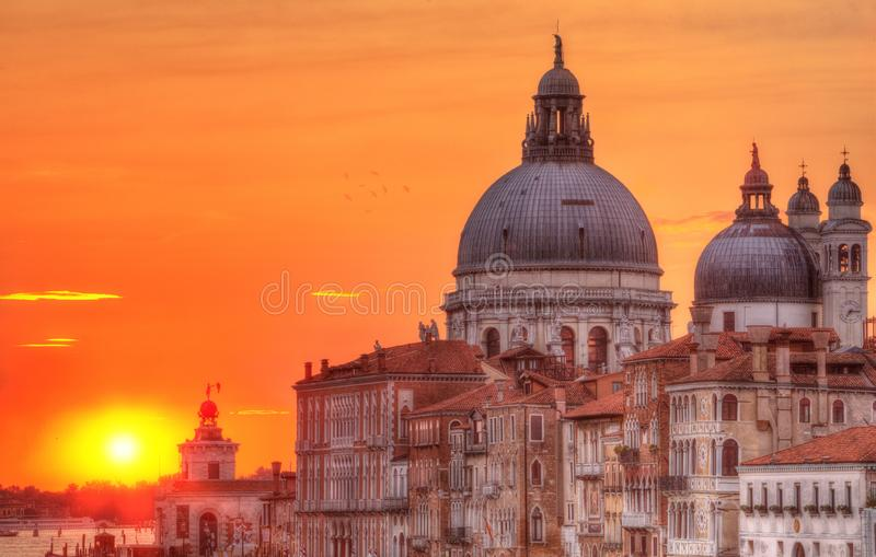 Kerk van Santa Maria della Salute, Venetië, Italië stock afbeeldingen