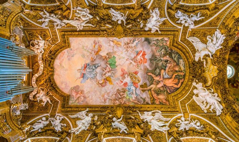 Kerk van Santa Maria della Vittoria in Rome, Italië stock afbeeldingen