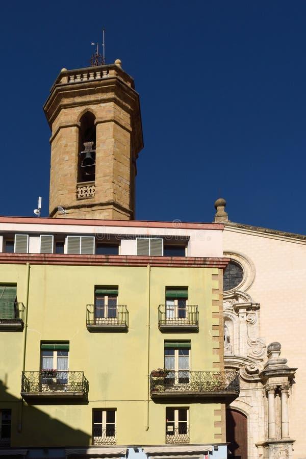 Kerk van Santa Maria, La Bisbal d'EmpordÃ, royalty-vrije stock afbeelding