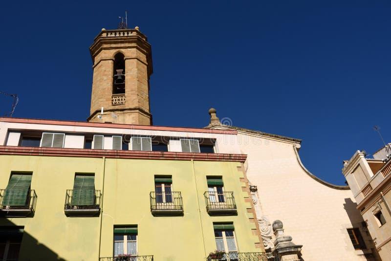Kerk van Santa Maria, La Bisbal d'EmpordÃ, stock afbeeldingen