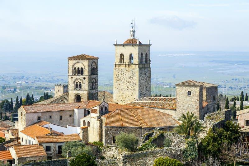 Kerk van Santa Maria la Mayor Trujillo, Spanje stock fotografie