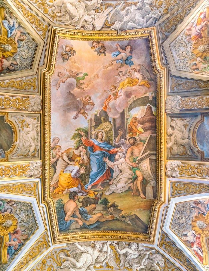 Kerk van Santa Maria Maddalena in Rome, Italië stock afbeelding