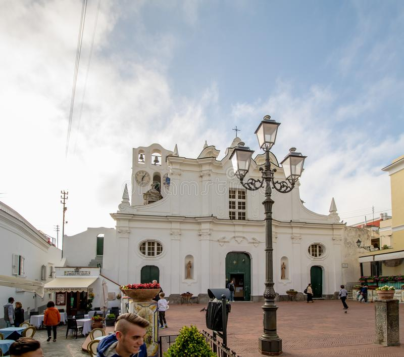 Kerk van Santa Sofia op het Eiland Capri, Italië stock afbeelding