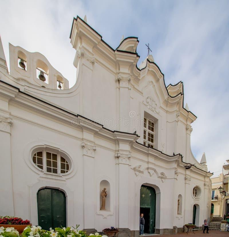 Kerk van Santa Sofia op het Eiland Capri, Italië stock afbeeldingen