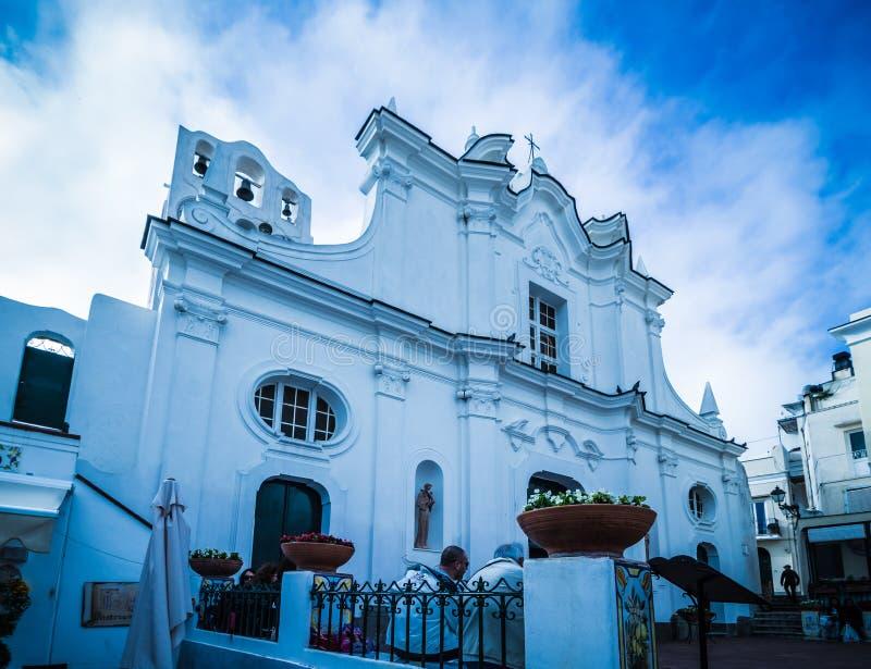 Kerk van Santa Sofia op het Eiland Capri, Italië stock foto